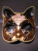 masque chat musique or